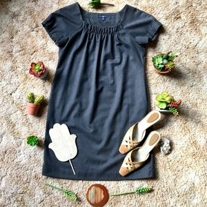{GAP} Wool Blend Grey Short Sleeve Shift Dress, M